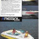 1990 Regal Boats Color Ad- Nice Photo Valanti 190 & 200- Hot Girls