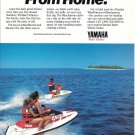1989 Yamaha Waverunner Color Ad- Nice Photo