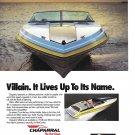 1989 Chaparral Villain boat Color Ad- Nice Photo