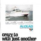 1967 Alglas 33' Convertible Sedan Boat 2 Page Color Ad- Nice Photo
