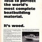 1966 U S Plywood Ad- Photo of 1967 Chris- Craft Futura 30' Boat