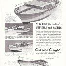 1960 Chris- Craft Cruisers & Yachts Ad- Nice Photos 36- 27- 40 & 66'