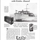 1929 Exide Ironclad Yacht Batteries Ad- Nice Photo Dawn Boat