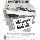 1948 Auto- Lite Ad- Nice Photo Elco 40 Express Cruiser
