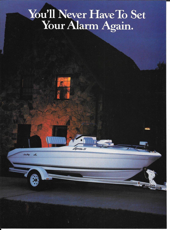 1992 Sea Ray Laguna 18 Boat 2 Page Color Ad- Nice Photo
