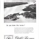 1953 Chubb Insurance Ad- Great Photo North Haven, Maine