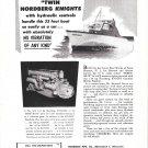 1953 Nordberg Marine Engines Ad- Nice Photo Carver 33' Boat