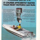 Old Evinrude 200 HP V-6 Outboard Motor Color Ad- Nice Photo