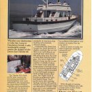 1980 Ocean 42 & Down East Trawler 40 New Boats 2 Pg Double Ad- Photo & Drawing
