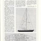1974 Ericson 37 One Ton Sailboat Ad- Boat Specs & Drawing