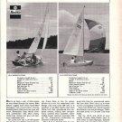 1967 Chrysler Marine Sailboats Ad- Boat Specs & Photo LS-13 & LS- 16