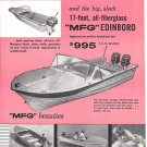 1959 Molded Fiber Glass MFG Boats 2 Page Ad- Nice Photos 15- 17-13 Models
