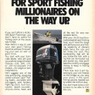 Old Evinrude V-6 235 HP Outboard Motor Color Ad- Photo