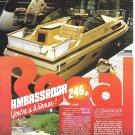 1983 Regal Ambassador 245 XL Boat Color Ad- Nice Photo