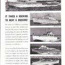 1962 Huckins Yacht Corp Ad- Nice Photos of 5 Models