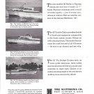 1965 Matthews Yachts Ad- Photos of 53- 43 & 36' Models