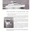1965 Huckins Linwood 56 & Owens 26 2 Page Double Boat Ad- Nice Photos