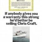 1965 Chris- Craft 38' Constellation Salon Boat Color Ad- Photo