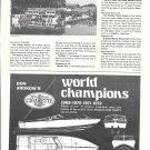 1973 Don Aronow World Champion Cigarette Boats Ad- Drawing