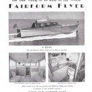 1948 Huckins 45 Sedan Fairform Flyer Yacht Ad- Nice Photos