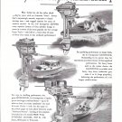 1948 Evinrude Outboard Motors & Matthews 38 Boat 2 Page Double Ad-Photo & Drawings