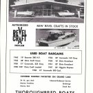 1963 Midway Marine & Thoroughbred Boats 2 Pg Double Ad- Nice Photos Revel Craft Boats