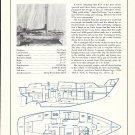 1971 Irwin Marine 37' Cruising Sloop Ad- Boat Specs & Drawing
