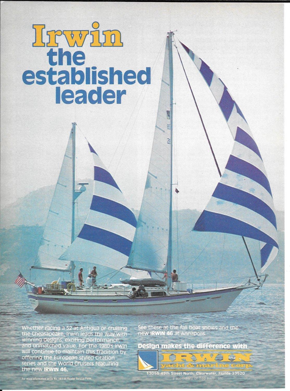 1979 Irwin 46 Sailboat Color Ad- Nice Photo
