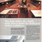 1982 Sabre 38 sailboat Color Ad- Nice Photo