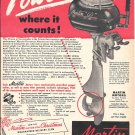 Old Martin 60 HP Outboard Motor Ad- Nice Photo