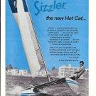 1972 Great Lakes Sports Sizzler Catamaran Ad- Nice Photo