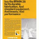 1970 Irwin Yacht & Marine Ad- Nice Photo Irwin 28 Sailboat