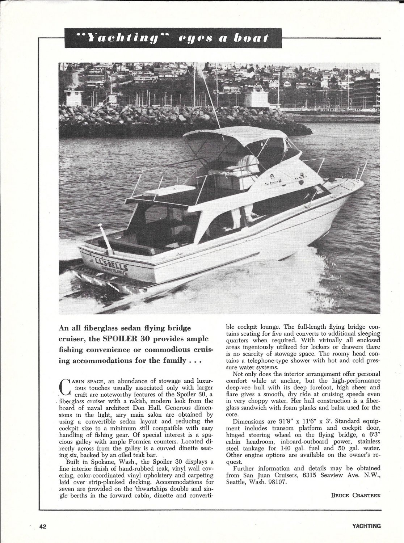 1970 San Juan Cruisers Spoiler 30 Boat Ad- Nice Photo