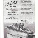 1957 Trojan Model 22-2 Cruiser Boat Ad- Nice Photo
