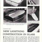 1966 Lippincott Lightning Fiberglass Boats Article & Nice Photos