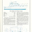 1972 Martin 28 Cruiser & Hargrave 92' 2 Page double Boat Ads- Boat Specs & Drawings