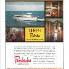 1966 Pembroke 32 Cabin Cruiser Boat Color Ad- Nice Photo