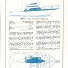 1973 Derecktor 54 & Striker 34 Double 2 Page Boats Ad- Drawings & Boat Specs