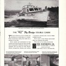 1959 Matthews 42 Fly Bridge Double Cabin Yacht Ad- Nice Photos