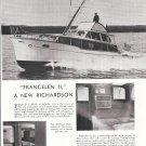 "1957 Richardson 43' Custom Sport cruiser Yacht ""Francelen II"" Ad- Nice Photos"