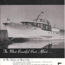 1957 Stephens 42 Flying Bridge Yacht Ad- Great Photo