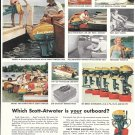 1966 Scott- Atwater Outboard Motors Color Ad- Nice Photos