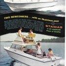 Old 1972 Stamas Boats Color Ad- Nice Photos V-24 Aegean
