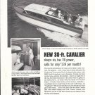1960 Chris- Craft 30' Cavalier Boat Ad- Nice Photos