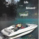 Old 1998 Monterey Boat Color Ad- Nice Photo- Hot Girl