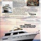 1988 Viking 55' Motor Yacht Color Ad- Nice Photo