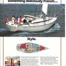 1984 Beneteau Idylle 13.50 Sailboat Color Ad- Nice Photo