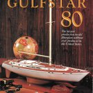 1984 Gulfstar 80 Sailboat 2 Page Color Ad- Nice Photo