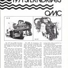 1971 OMC Stern Drives Review- Photos
