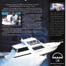 1998 Man Marine Engines Color Ad- Nice Photo Viking 60' Sport Yacht